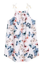 Seersucker dress - White/Butterflies -  | H&M 2