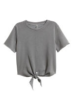 Short-sleeved sweatshirt - Grey - Ladies | H&M CN 2