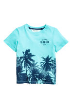 Printed T-shirt - Light turquoise/Palms - Kids | H&M 2