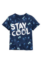 Printed T-shirt - Dark blue/Flamingo - Kids | H&M 2