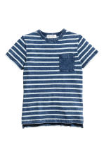 Printed T-shirt - Dark blue/Striped - Kids | H&M CN 2