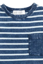 Printed T-shirt - Dark blue/Striped - Kids | H&M CN 3