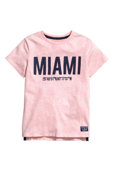 T-shirt con motivo - Rosa chiaro/Miami -  | H&M IT
