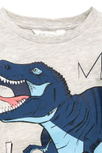 Long-sleeved T-shirt - Light beige/Dinosaur - Kids | H&M 3