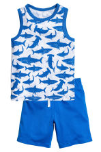 Vest top and shorts - Light grey/Sharks -  | H&M CN 2