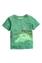 圖案T恤 - Green/Crocodile - Kids | H&M 2