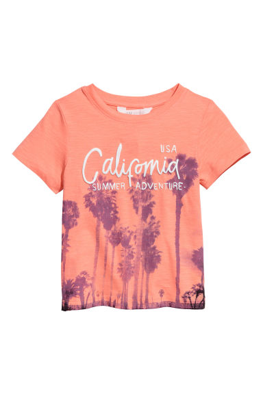 T-shirt med tryck - Orange/Palmer - Kids | H&M FI 1