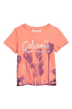 Printed T-shirt - Orange/Palms - Kids | H&M 2
