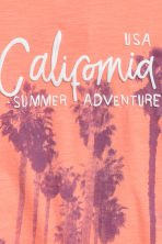 Printed T-shirt - Orange/Palms - Kids | H&M 3