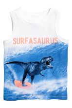 Printed vest top - White/Dinosaur - Kids | H&M 2