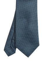Textured silk tie - Dark blue - Men | H&M 3