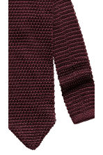 Fine-knit silk tie - Burgundy - Men | H&M CN 3