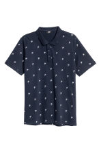 Polo shirt - Dark blue/Palms - Men | H&M 2