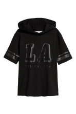 Hooded T-shirt - Black/Los Angeles - Kids | H&M CN 2