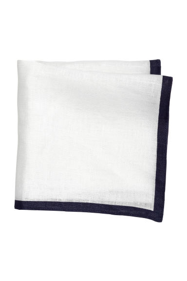 Linen handkerchief - White - Men | H&M 1