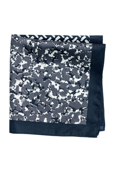 Block-patterned handkerchief - Black/Dark grey - Men | H&M CN 1