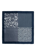 Block-patterned handkerchief - Black/Dark grey - Men | H&M CN 2