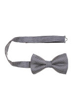 Jacquard-weave silk bow tie - Dark blue/Patterned - Men | H&M CN 2