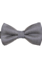 Jacquard-weave silk bow tie - Dark blue/Patterned - Men | H&M CN 3
