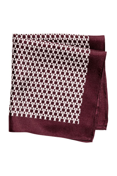 Patterned silk handkerchief - Burgundy - Men | H&M 1