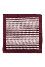 Patterned silk handkerchief - Burgundy - Men | H&M 2