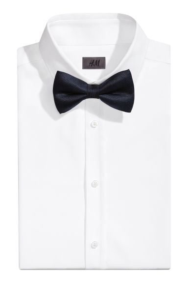 Silk bow tie - Dark blue - Men | H&M CA 1