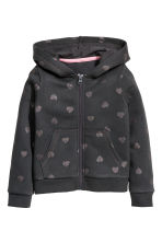 Hooded jacket - Dark grey/Hearts - Kids | H&M 2