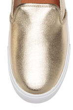 Slip-on sneakers - Goudkleurig - DAMES | H&M NL 3