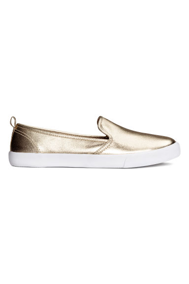 Slip-on sneakers - Goudkleurig - DAMES | H&M NL