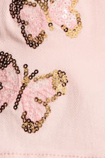 Twill shorts with appliqués - Light pink/Butterflies - Kids | H&M 4