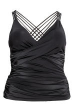 H&M+ Draped tankini - Black - Ladies | H&M 1