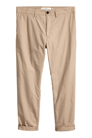 Cotton chinos - Beige - Men | H&M GB