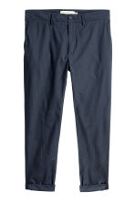Cotton chinos - Dark blue - Men | H&M 2