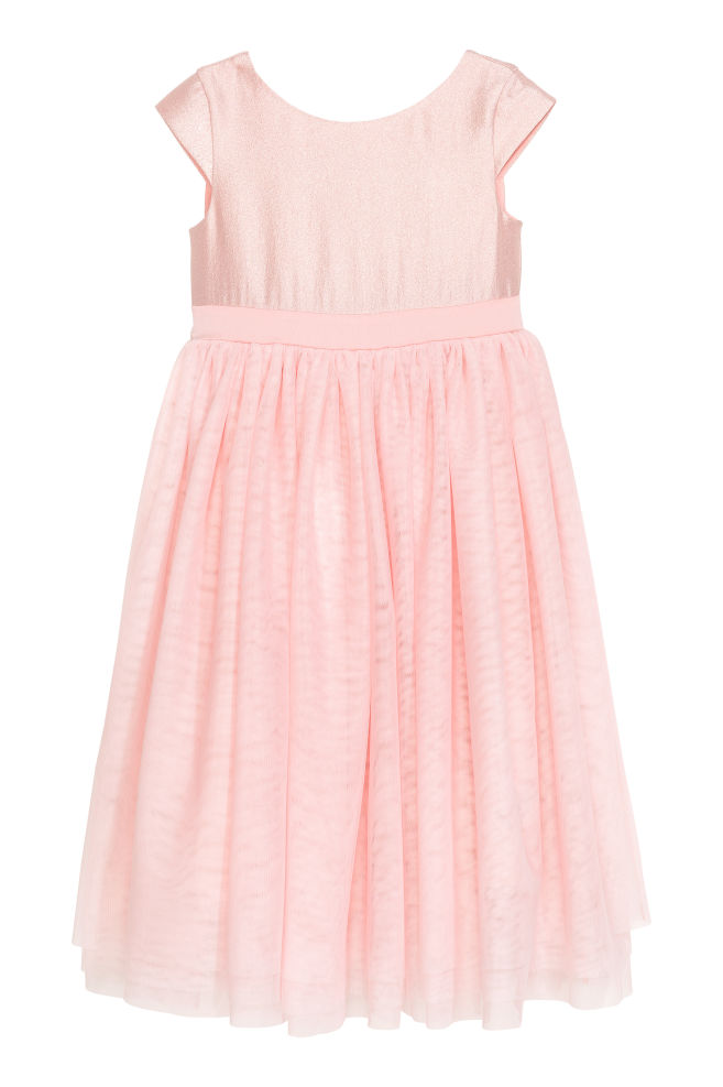 Tulle dress with a bow - Light pink - Kids | H&M GB