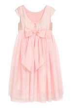 Tulle dress with a bow - Light pink - Kids | H&M 3