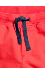 Twill shorts - Coral red -  | H&M 3