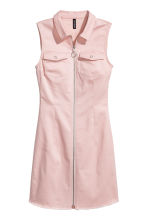 Fitted twill dress - Powder pink - Ladies | H&M CN 2