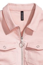 Fitted twill dress - Powder pink - Ladies | H&M CN 3