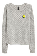 Cable-knit jumper - Grey - Ladies | H&M 2