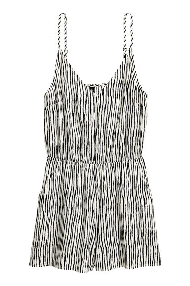 Playsuit - Natural white/Black/Striped -  | H&M GB 1