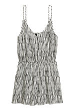 Playsuit - Natural white/Black/Striped -  | H&M CN 1