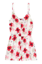 Playsuit - Natural white/Floral - Ladies | H&M CN 2