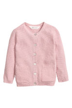 Cotton cardigan - Light pink/Glittery - Kids | H&M 2
