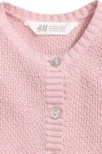 Cotton cardigan - Light pink/Glittery - Kids | H&M 3