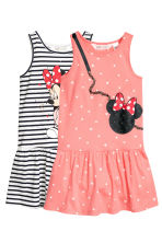 2-pack jersey dresses - White/Minnie Mouse - Kids | H&M CN 2