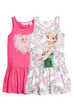2-pack jersey dresses - White/Frozen - Kids | H&M CN 2