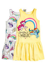 Lot de 2 robes en jersey - Jaune clair/My Little Pony - ENFANT | H&M CH 2