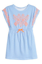 Jersey dress with print motif - Blue/White/Striped -  | H&M 2