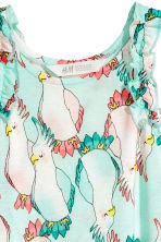Printed jersey dress - Mint green/Parrot - Kids | H&M 3