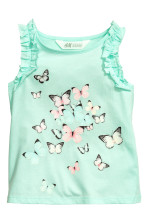 Mint green/Butterflies